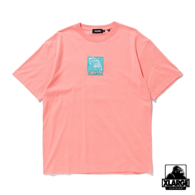 XLARGE S/S TEE EMBROIDERY SQUARE OG 方形LOGO刺繡短T-粉