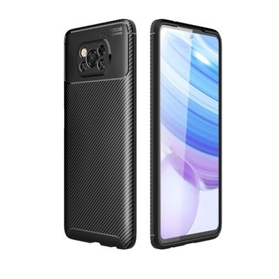 TOTOMO For:POCO X3Pro 手機殼時尚碳纖紋路+抗指紋-NEW