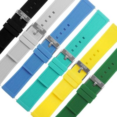 I AM / 20mm / 各種品牌通用 舒適耐用 輕便運動型 矽膠錶帶-多色