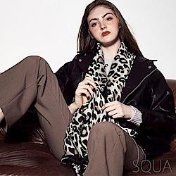 SQUA 豹紋圍巾