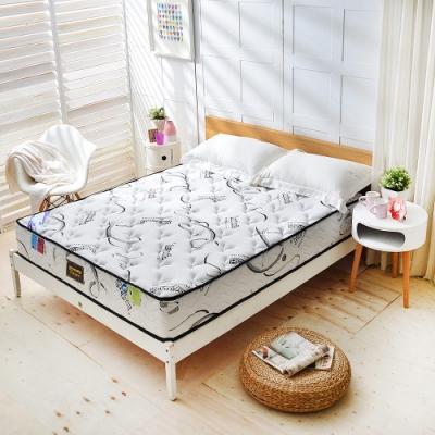 雙人加大6尺 瑞士Sanitized涼感長效抗菌除臭-護腰型-硬式獨立筒床墊-Ally愛麗