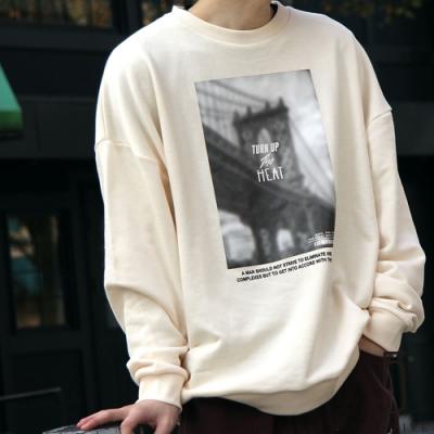 ZIP日本男裝 照片印刷寬版運動衫 抗菌防臭加工 (3色)
