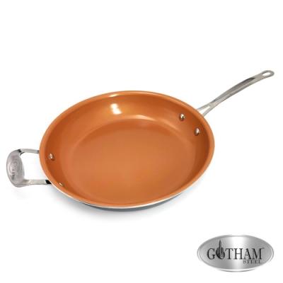 美國GOTHAM 鈦金陶瓷不沾平底鍋32cm