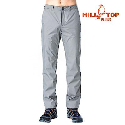 【hilltop山頂鳥】男款Windstopper防小雨抗風長褲H31MK9頂灰