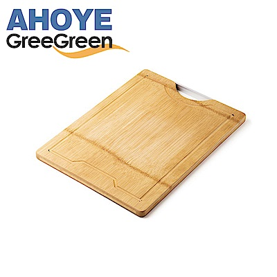 GREEGREEN  天然竹木雙面防裂砧板 好拿型 15吋