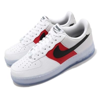 Nike 休閒鞋 Air Force 1 07 LV8 男鞋 經典款 AF1 皮革 質感 簡約 穿搭 白 紅 CT2295110