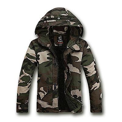 美國熊 合身版型 潮流 顯瘦 連帽迷彩夾克外套 情侶款