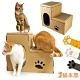 貓本屋 豪華版雙層貓抓板寵物貓屋 product thumbnail 2