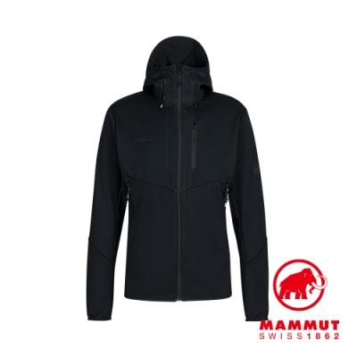 【Mammut 長毛象】Ultimate VI SO Hooded Jacket Men 防風防潑水透氣連帽外套 黑色 男款 #1011-01230