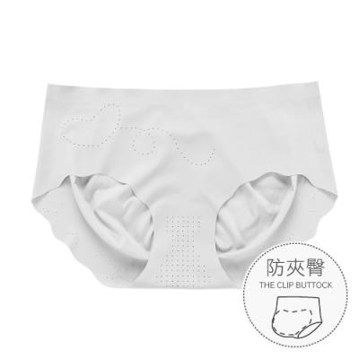 無痕內褲 升級裸感防夾臀冰絲女性內褲 M-XL (灰色) alas