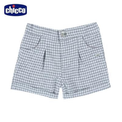 chicco-夢幻城市-千鳥格反摺短褲