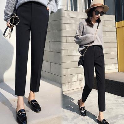 【韓國K.W.】(預購)自在穿搭顯瘦哈倫煙管褲-1色