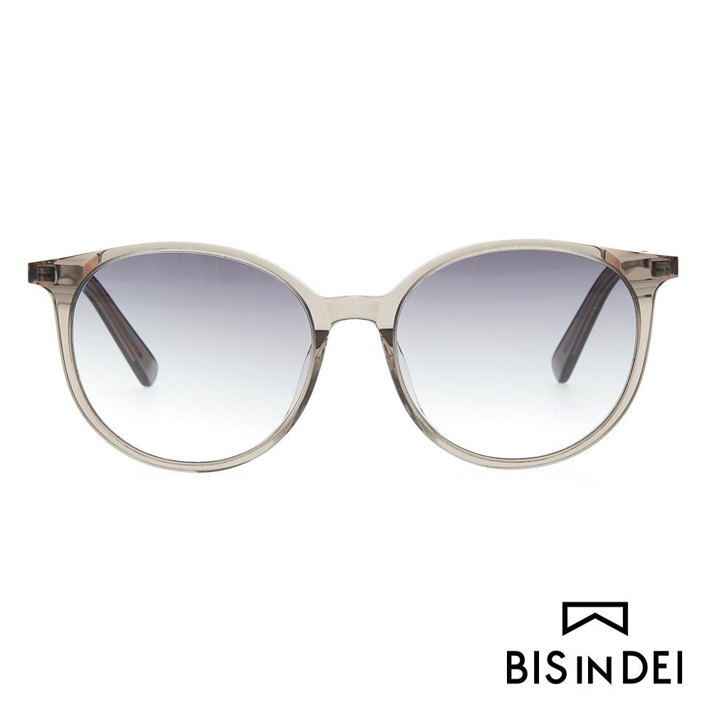 BIS IN DEI 秀氣簡約圓框太陽眼鏡-灰