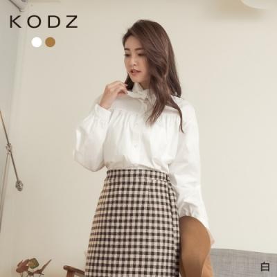 東京著衣-KODZ 法式女伶小復古領結造型襯衫上衣(共二色)