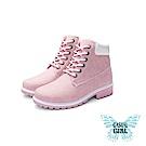 Casual Girl「USA」美式工作靴 (粉色)