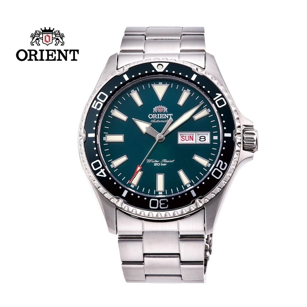 ORIENT 東方錶 WATER RESISTANT系列 200m潛水錶 鋼帶款 綠色 RA-AA0004E - 41.8mm
