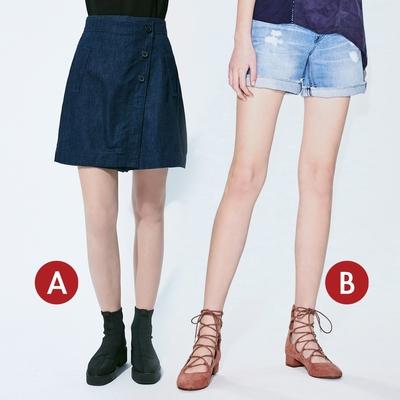 [時時樂限定]BRAPPERS 女款 飄逸涼爽短褲系