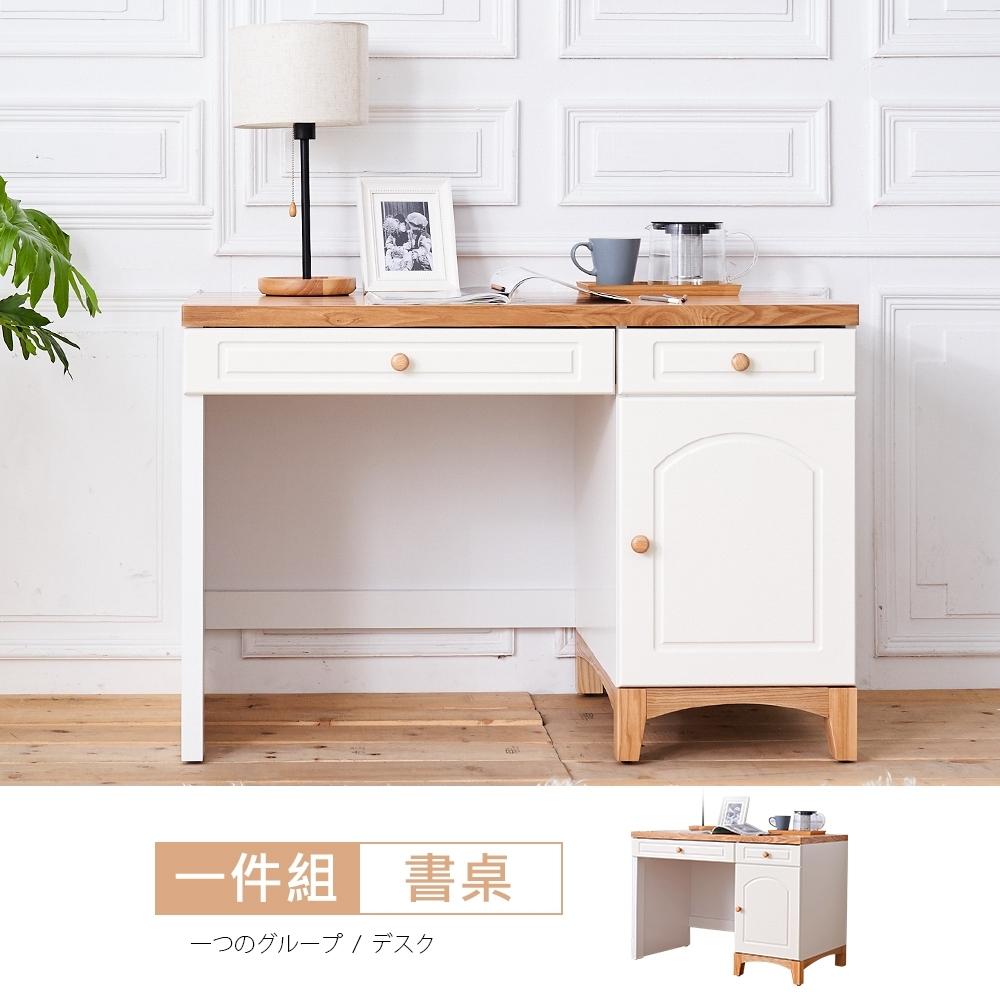 時尚屋 北歐生活3.7尺書桌-免運費/免組裝 寬112x深60x高76cm