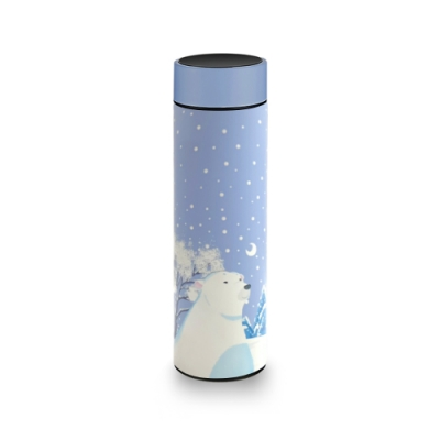 【PO:Selected】丹麥溫度智能杯460ml(秋冬限定雪白北極熊)