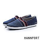 HANNFORT CALIFORNIA甜美荷葉帆布休閒鞋-女-海軍藍