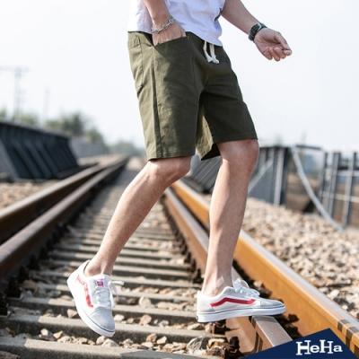 HeHa-平口口袋設計速乾休閒短褲 四色