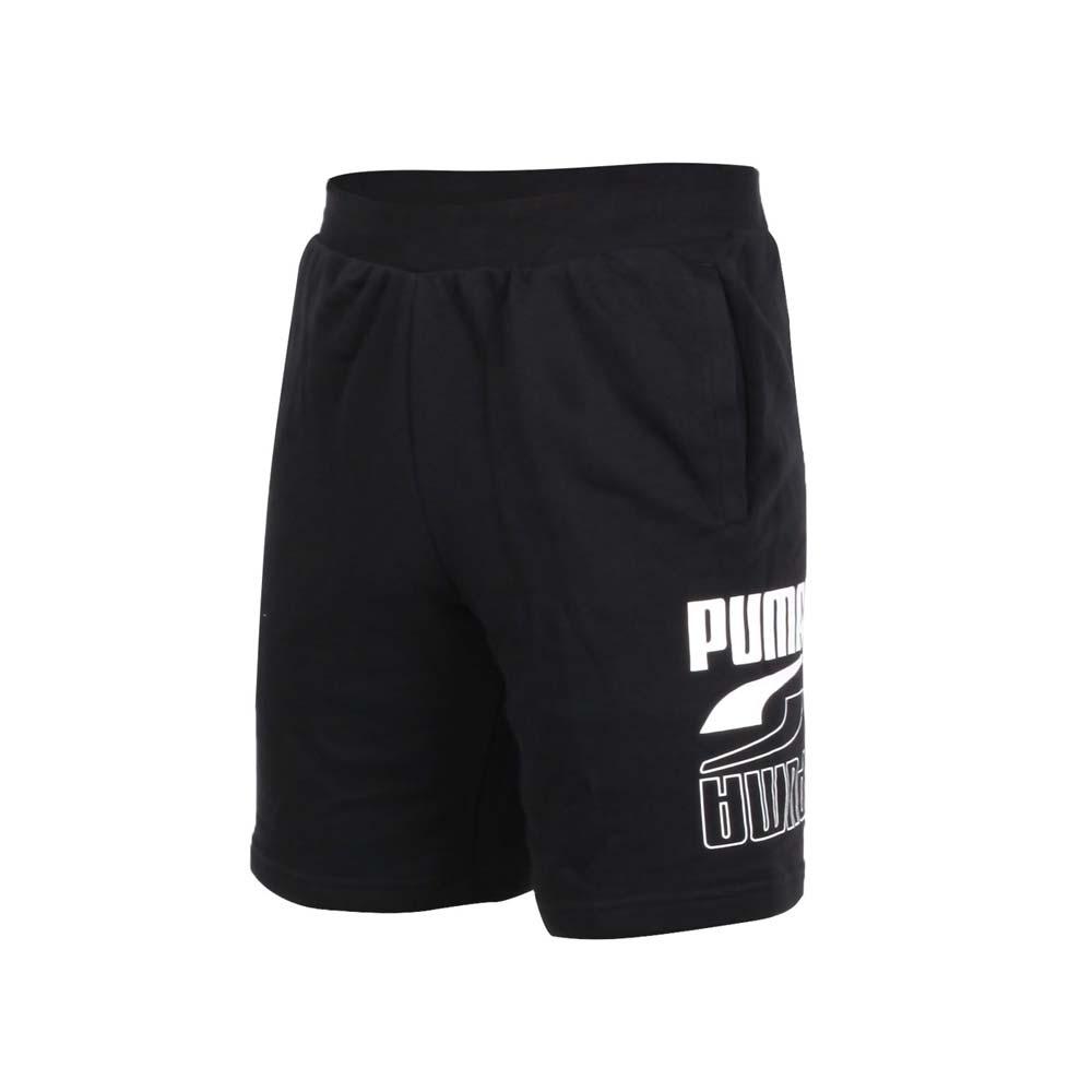 PUMA 男基本系列運動短褲-慢跑 路跑 運動 五分褲 亞規 58529601 黑白