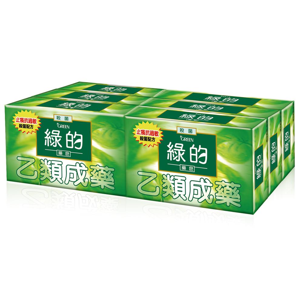 綠的GREEN  藥皂80g*6入組(乙類成藥)