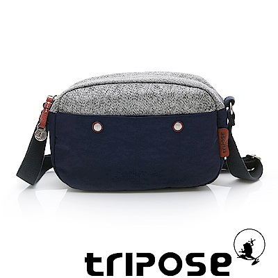 tripose 漫遊系列 岩紋x微皺尼龍斜背包 深藍