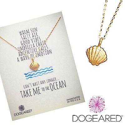 Dogeared 海洋系列 金色貝殼項鍊 Take me to the ocean附原廠盒