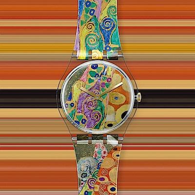 SWATCH MOMA聯名原創系列 古斯塔夫・克林姆 《希望II》(34mm)