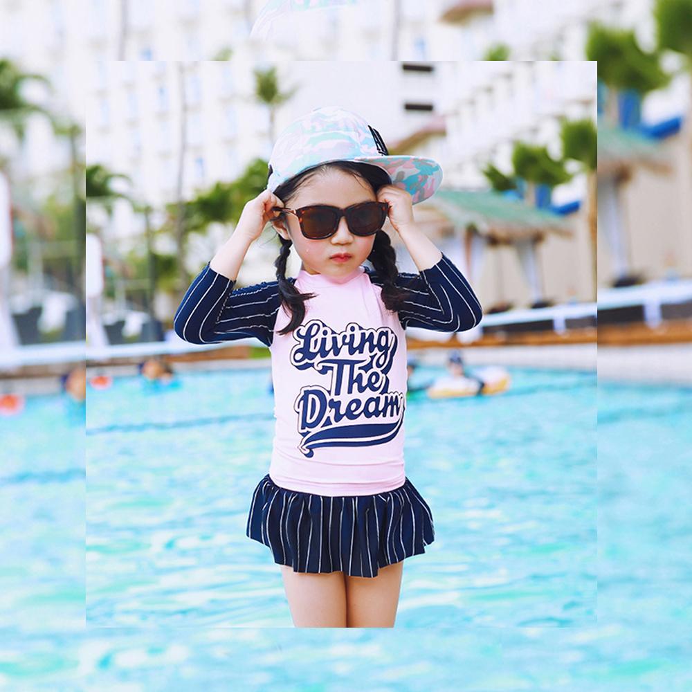 Biki比基尼妮泳衣   蛋糕長袖泳衣兒童泳衣泳裝(S-2XL)