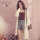 東京著衣-yoco 甜氛美人修身口袋針織長版外套(共三色)