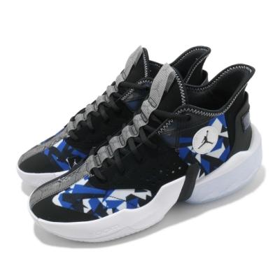 Nike 籃球鞋 React Elevation 運動 男鞋 喬丹 避震 支撐 包覆 球鞋 穿搭 黑 白 藍 CK6617004