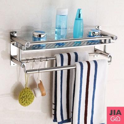 JIAGO 無痕浴室不鏽鋼置物架