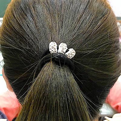 Hera 赫拉 時尚高彈性水鑽髮圈2入組-隨機