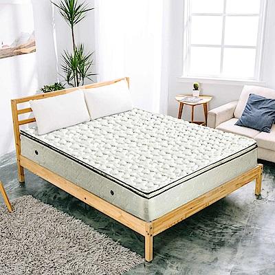 AVIS 艾維斯 卡爾文正三線立體加厚緹花布硬式獨立筒床墊-雙人加大6尺
