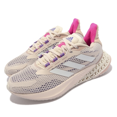 adidas 慢跑鞋 4DFWD Pulse W 運動 女鞋 愛迪達 4D科技 透氣 避震 球鞋 卡其 白 Q46226
