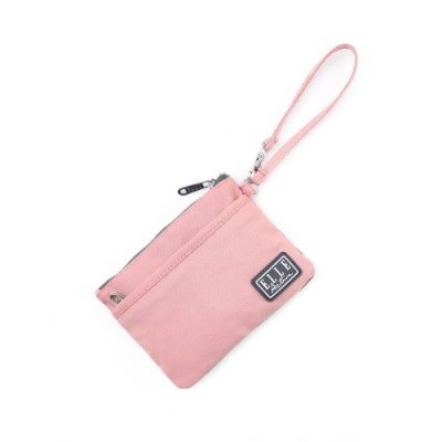 ELLE Active 透視網布系列-口罩收納袋/零錢包-粉紅色