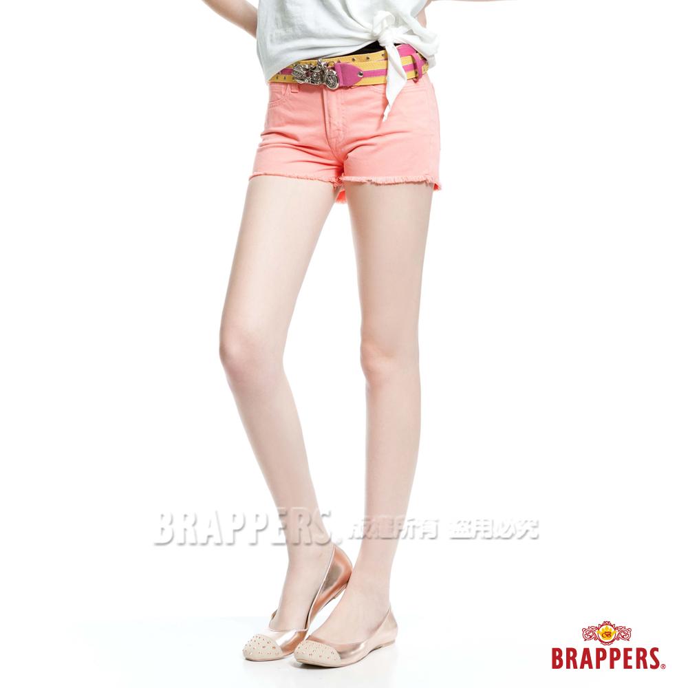 BRAPPERS 女款Boy Friend Jeans系列-熱褲-淺粉橘