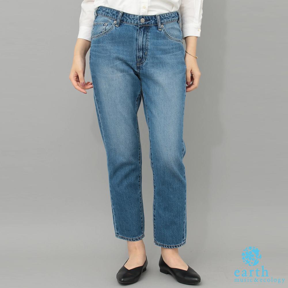 earth music 美國棉刷色錐形牛仔褲