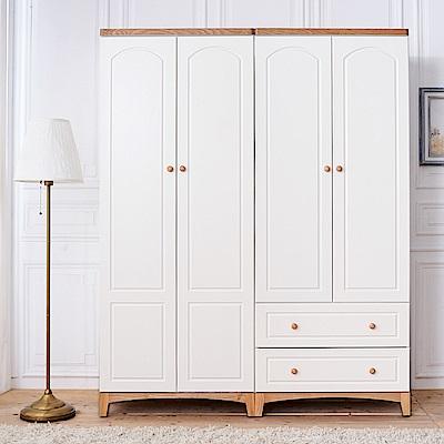 時尚屋 北歐生活5.4尺衣櫃 寬162x深60x高200cm