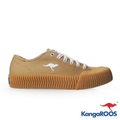 KANGAROOS 女 CRUST 職人手工硫化鞋(卡其)