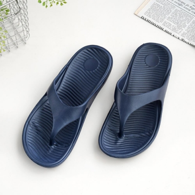 333家居鞋館 輕鬆穿搭夾腳拖鞋-深藍