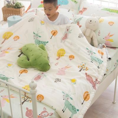 OLIVIA  小森林 黃 標準單人床包夏日涼被三件組  300織精梳純棉 台灣製