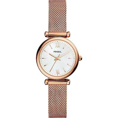 FOSSIL Jacqueline 羅馬米蘭帶女錶-珍珠貝x玫塊金/28mm