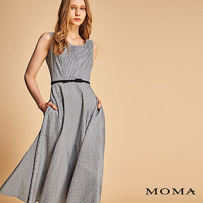 MOMA 格紋腰帶洋裝