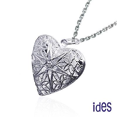 ides愛蒂思 歐美設計愛心相框項鍊/藏愛