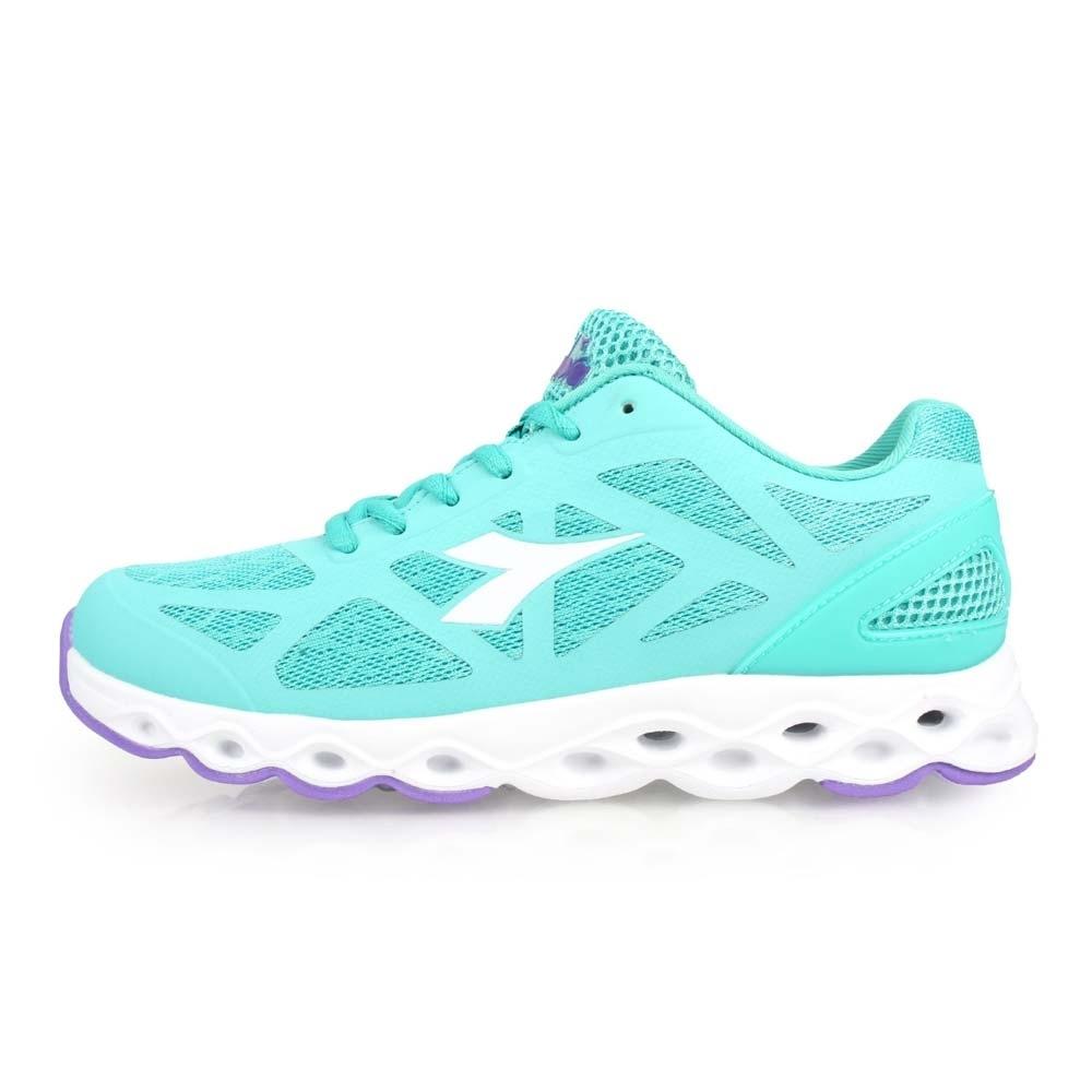 DIADORA 女慢跑鞋-訓練 路跑 湖水綠白