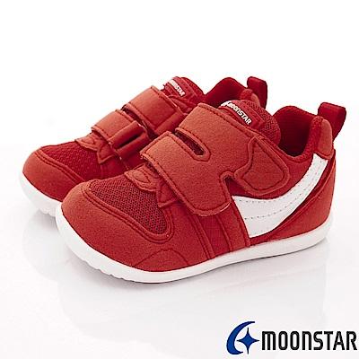 日本月星頂級童鞋 HI系列2E抗菌款 77S1紅白(寶寶段)