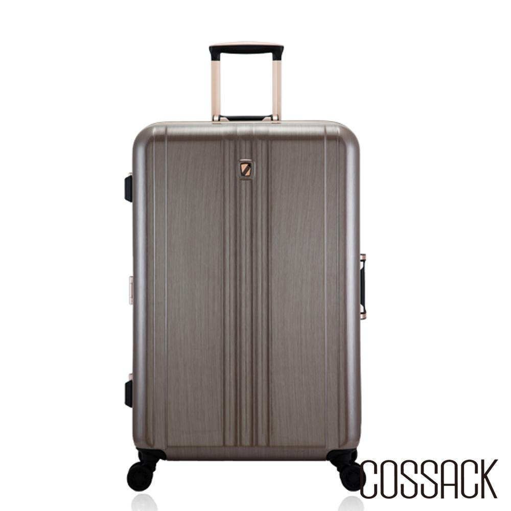 Cossack-CLASSIC經典- 26吋PC鋁框行李箱-金色髮絲